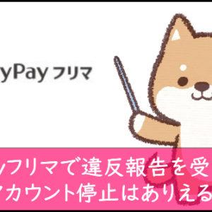 PayPayフリマで違反報告を受けたら?アカウント停止はありえる?